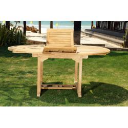 table de jardin en teck de grade A : 120-180 cm