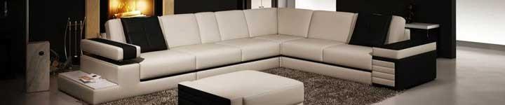 Canapé et canapé d'angle design en cuir à petits prix